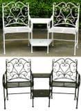 Bentley Garden Heart-Shaped Wrought Iron Companion Seat Love Seat - White/Black